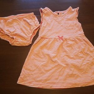Carter's orange striped dress